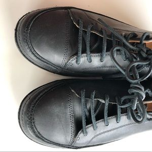 UGG Shoes - UGG Leather Sneakers black size nine